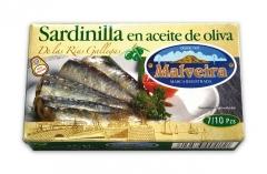 Sardinillas de las r�as gallegas en aceite de oliva 7/10 piezas malveira
