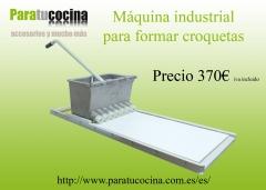 M�quina manual industrial para formar croquetas
