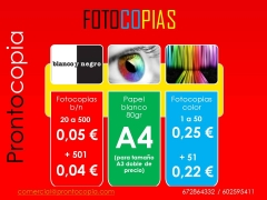 Fotocopias color y b/n super economicas