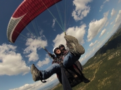 Volar en parapente biplaza en �ger
