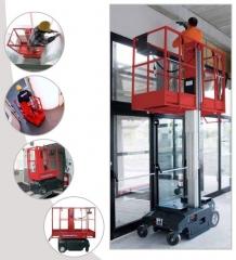 Mini plataforma elevadora de 5m de altura de trabajo.