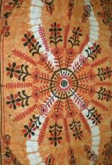 Colcha india multiusos, fabricada en 100% algodón. modelo batik