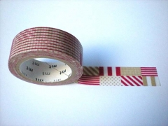 Washi tape marca mt, modelo mix red