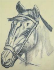 Tattoo caballo realizado por alumno