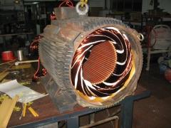 Bobinado de motor de 250 kw. a 1500 rpm.