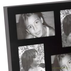 Portafotos multi ventanas. portafotos multiple ola de pared negro 12 3 - la llimona home