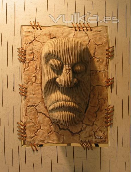 Foto: original decoracion rustica en relieve para paredes