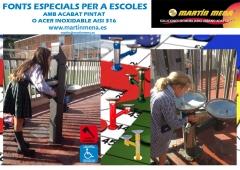 Fuentes infantiles para patios de colegios
