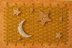 Curiosa estrellas y luna para decorar