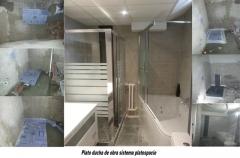 Reforma baño con plato ducha de obra y bañera