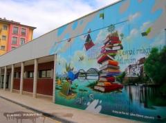 Decoraci�n con graffiti mural - graffiti tarragona - foto 16