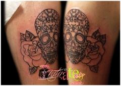 Calavera mexicana en tatuate studio alicante