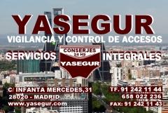 Conserjes en comunidades de vecinos y empresas de madrid. yasegur servicios integrales