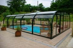 Cubierta para piscina fija transparente