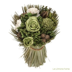 Arreglo floral natur flores artificiales verde 20 1 - la llimona home