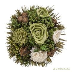 Arreglo floral natur flores artificiales verde 20 2 - la llimona home