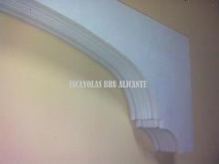 Arco de escayola en nuestra exposici�n en santa pola (alicante)