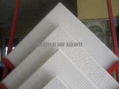 Diferentes modelos de placas de escayola para techos desmontables http://escayolasbru.blogspot.com