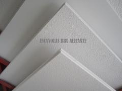 Modelos de placas de escayola para techo desmontable