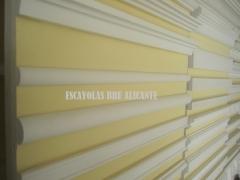 Baquetones y cenefas de escayola lisas http://escayolasbru.blogspot.com.es/