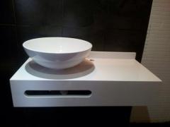Encimera baño silestone blanco zeus