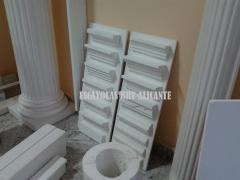 Columnas, baldas, estanterias, techos, arcos a medida, molduras