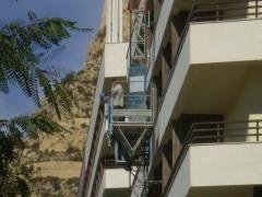 MONTAJE PLATAFORMA ELEVADORA PEC-120 EN EL HOTEL MELIA (ALICANTE)