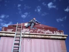 Preparativos previos  para montaje de redes protección.