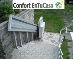 Plataforma salvaescaleras tramo recto - asturias cantabria y vizcaya + confort entucasa
