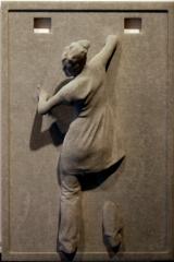 Off th wall - homenaje a star wars - como han solo en carbonita - threedee-you foto-escultura 3d-u
