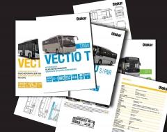 Serie de catálogos de la gama vectio de otokar, con la nueva motorización euro 6