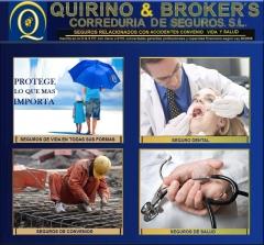 Quirino & brokers -  les ofrece las modalidades de seguro dental, convenios, salud y todas las demás