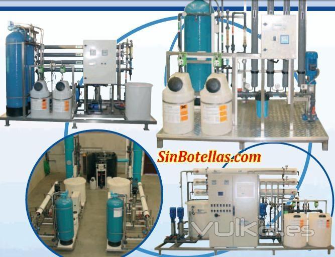 todo tipo de instalaciones industriales de separación por membrana de osmosis inversa