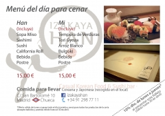 Material de difusión del restaurante Han