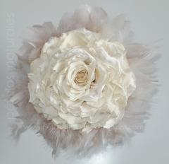 Rosmelia preservada blanco roto - p�talos naturales