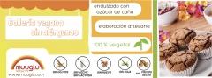Bollería vegena sin alérgenos. sin gluten, leche, lactosa, huevo, soja, frutos secos ni levaduras.