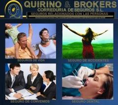 QUIRINO & BROKERS -   Seguros relacinados con las personas disponibles en esta correduría y otros
