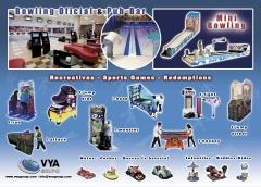 Boleras, bowling, mini boleras, mini bowling, deportivas, recreativos, redemptions
