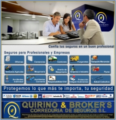 QUIRINO & BROKERS Seguros relacionados con las empresas según imagen y descripción de esta, etc.