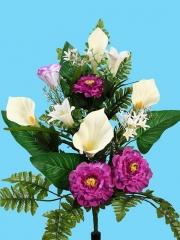 Ramo flores artificiales zinnias y liliums Oasis Decor