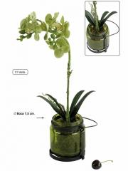 Orquidea artificial en tarro de cristal oasis decor