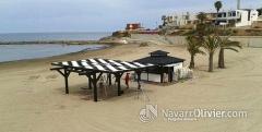 Montaje de pepino beach bar, cabo de palos. navarrolivier.com
