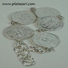 Pulsera de plata monedas romanas.