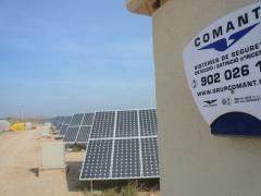 Instalaci�n de seguridad en una planta solar