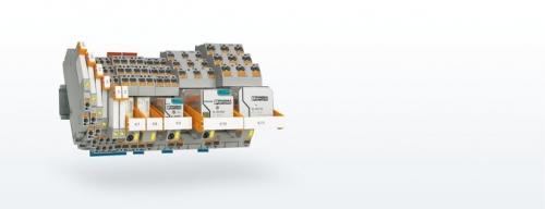 Sistema de relé industrial con conexión push-in
