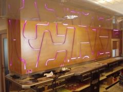 Dise�o mural de barra cafeter�a en burgos