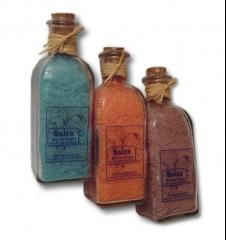 Sales de baño marinas con aceite de oliva