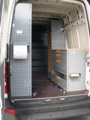 Equipamiento interior de furgonetas