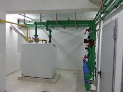 Sala de calderas a gas natural