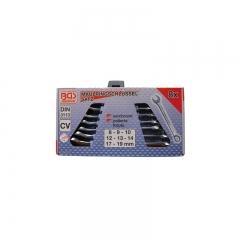 Juego 8 llaves combinadas din 3113, 8-19 mm